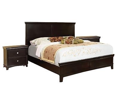 Furniture Of America Pasha 3 Piece Queen Platform Bedroom Set With  Two Nightstands,