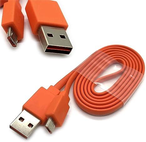 Dgsus Micro Usb Daten Schnellladekabel Für Jbl Flip 4 Flip 3 Flip 2 Charge 3 Charge 2 Logitech Ue Boom Bluetooth Lautsprecher 22awg Orange Audio Hifi