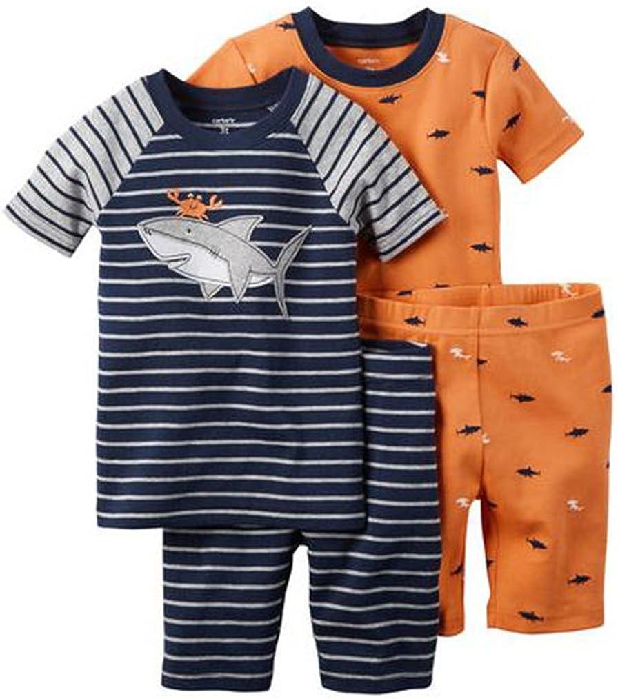 Sharky Blue 6 M Toddler//Kid Carters 4 Piece PJ Set