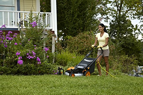 WORX WG719 13 Amp Caster Wheeled Electric Lawn Mower, 19-Inch by Worx (Image #2)
