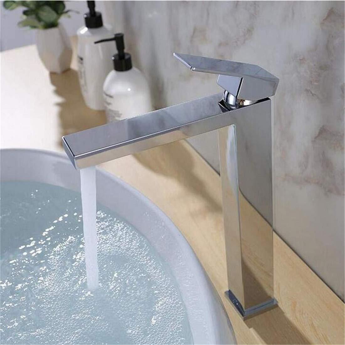 Grifos de lavabo Accesorios de baño YSRBath Modernos Grifos del Fregadero del Cuarto de baño Retro Negro con un asa fría y Caliente Cocina Mezclador Grifos de Lavabo