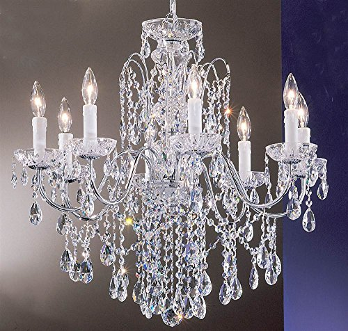 (Daniele 8-Light Crystal Chandelier (English Bronze - Swarovski Strass) )