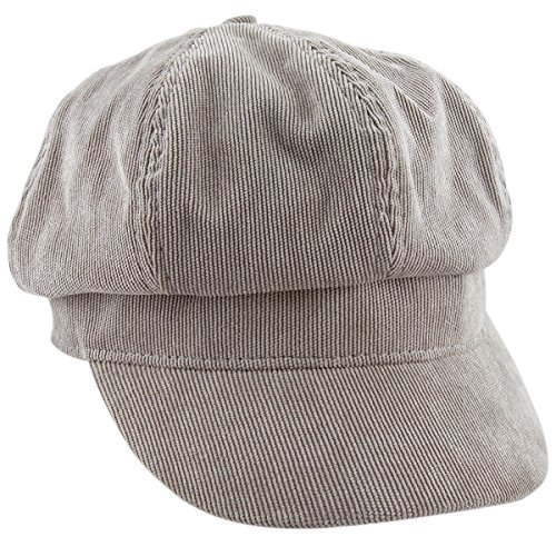 Brim Beret (moonsix newsboy Hat,Plain Cabbie Visor Beret Gatsby IVY Caps For Women,Grey(Corduroy))