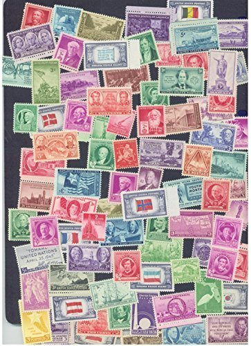 25 Very Old Mint U.S. Stamp Collection from 1930s and 1940s by United States Postal Service (USPS) (United Stamps Postal)