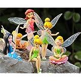 6 Disney Fairies Tinkerbell Secret Of The Wings Figures Display Toys