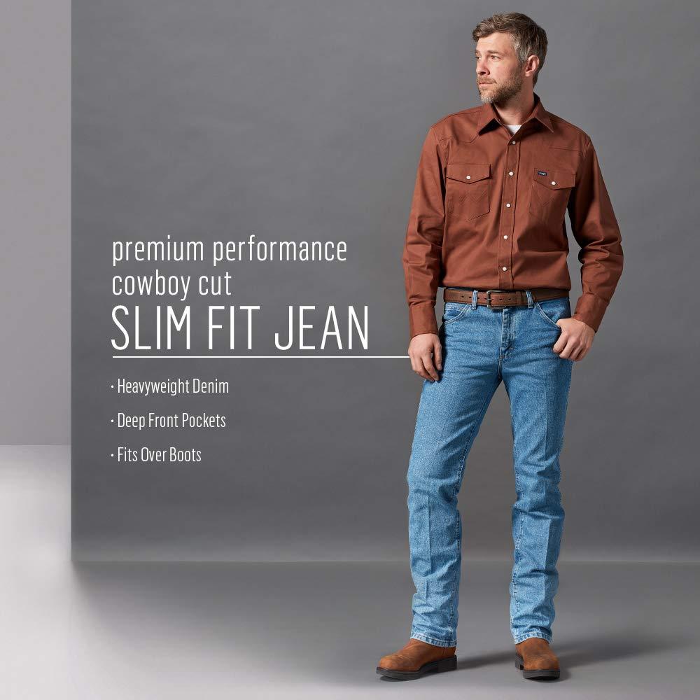 93bfe5f2 Wrangler Men's Premium Performance Cowboy Cut Slim Fit Jean at Amazon Men's  Clothing store: