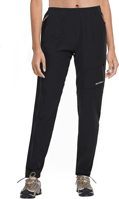 BenBoy Pantalones Montaña Trabajo Mujer Secado Rápido Pantalones Casuales Deportivos Pantalon de Trekking Escalada Senderismo Acampada Impermeable