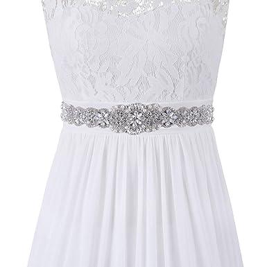 9c1ab324b4b86 PRETTYLIFE Ribbon Rhinestone Belt for Baby Shower Party Gown Maternity Dress  Wedding Bridal Sash (Navy
