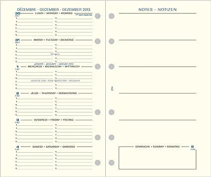Exacompta 29244e Recambio para agenda Exatime 29 semanal 1/2 ...