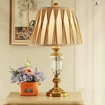 TOYM UK Amerikanische Moderne Schlichte Kristall Tischlampe Schlafzimmer  Nachttischlampe Hochzeit Modell Haus Villa Tischlampe ( Farbe