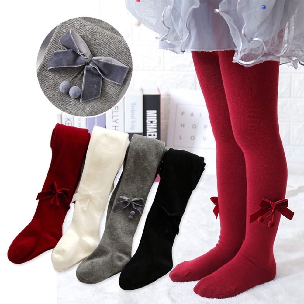 Zenda Mensewa Baby Girls Cotton Knitted Long Bow Leg Warmer Pantyhose Hosiery Stockings Socks