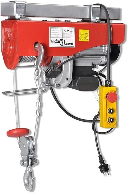 1200 W gancio singolo paranco motore paranco a carrucola doppio gancio 200-1000 kg 500 kg corda in acciaio Sollevatore elettrico 100 kg