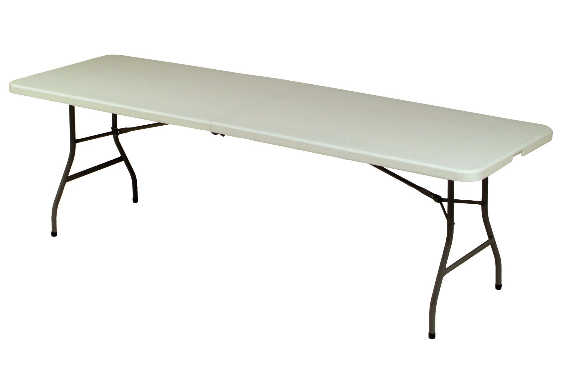 Meco 8-Feet Folding Table, Mocha Metal Frame and Cream Plastic Top