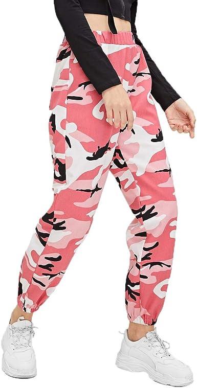 Loalirando Pantalones De Mujer De Lino De Cintura Alta Pantalones Militares Para Mujer Deportivos Verde Negro Rosa S Xxl Amazon Es Ropa Y Accesorios
