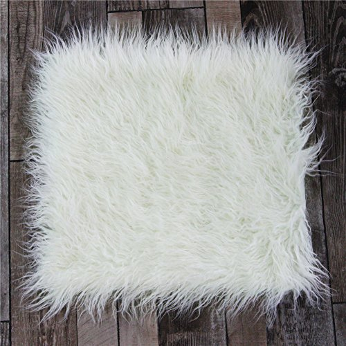 Flokati Pillow (FURTALK 18-Inch Mongolian Faux Fur Pillow, Natural (One Pillow)