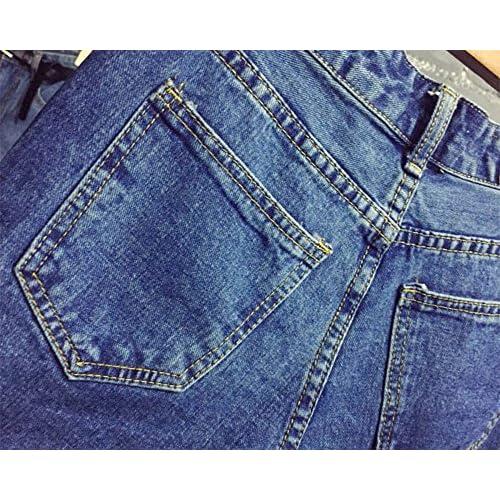 barato SaiDeng Mujer Cintura Alta Pantalones Cortos Engaste Shorts De Mezclilla  Casual Jeans Shorts Con Cinturón b0b139fd899