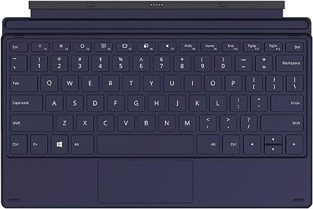 TECLAST T6 Funda con Teclado Inalámbrico para Tablet PC X6Pro, QWERTY Formato, Delgado PU Cuero Soporte Detachable Negro
