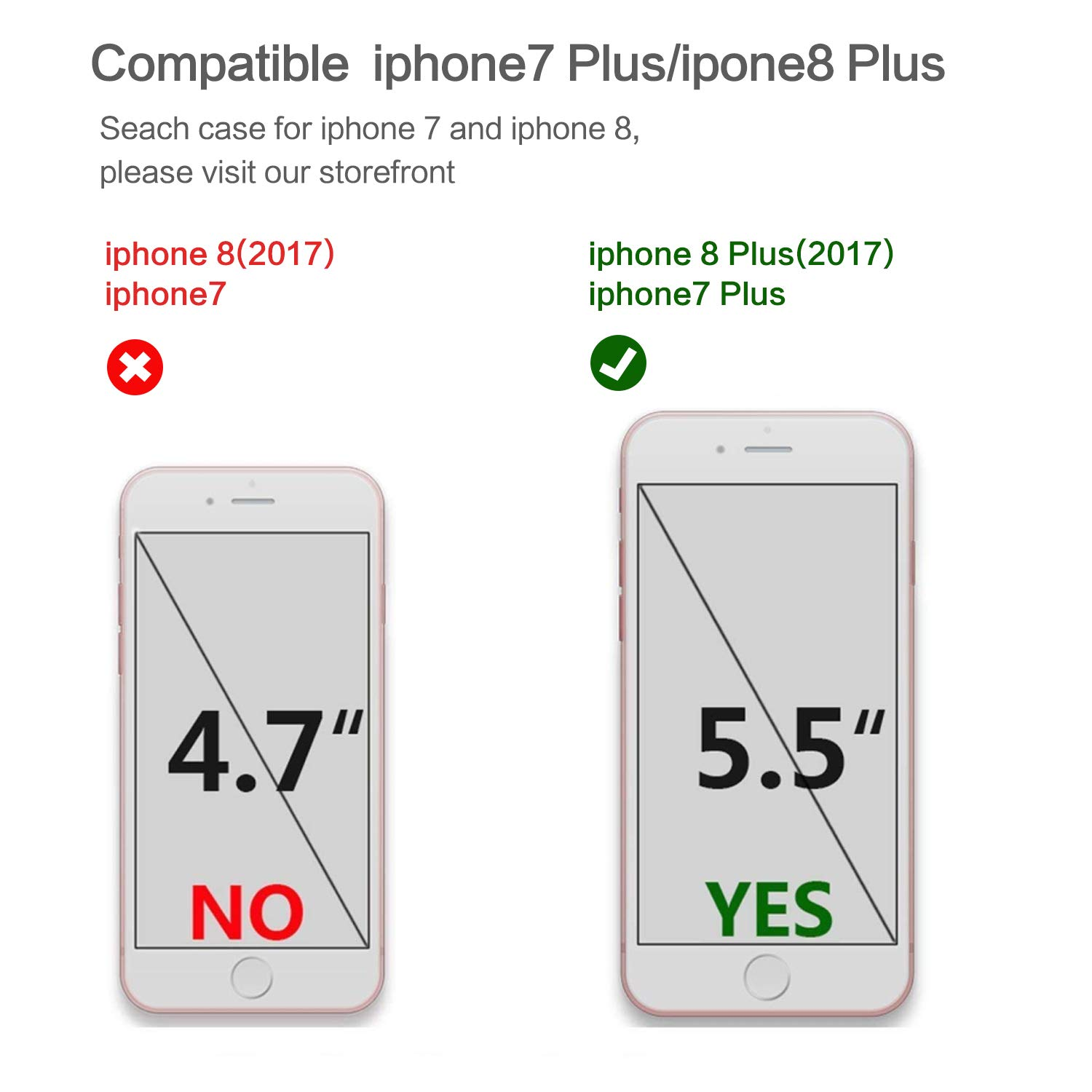 EMORCO Marble iPhone 7 Plus Case Bumper Slim TPU Soft Rubber Silicone Cover Anti-Scratch Thin Back Protective Phone Case for Apple iPhone 7 Plus & iPhone 8 Plus Plant