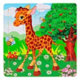 Jigsaw Puzzles for Kids Ages 3 Wooden Kids 16 Piece Jigsaw Toys Education and Learning Puzzle Toys