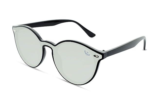 Gafas sol lente plana MOSCA NEGRA ® modelo R-ZONE Silver ...
