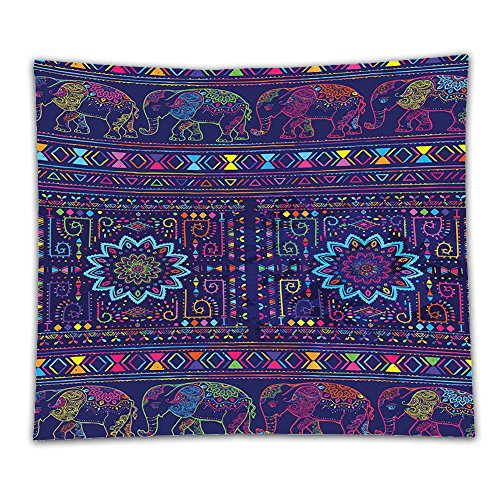 [Beshowereb Fleece Throw Blanket Beshowereb Fleece Throw Blanket Beshowereb Fleece Throw Blanket Psychedelic Traditional Middle Eastern Moroccan Persian Baby Elephants Embellished Boho Print for Mul] (Psychedelic Elephant Baby Costumes)