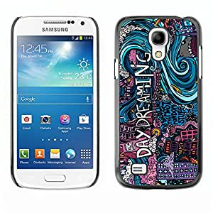 MOBMART Carcasa Funda Case Cover Armor Shell PARA Samsung Galaxy S4 Mini i9190 - Daydreaming In Colors