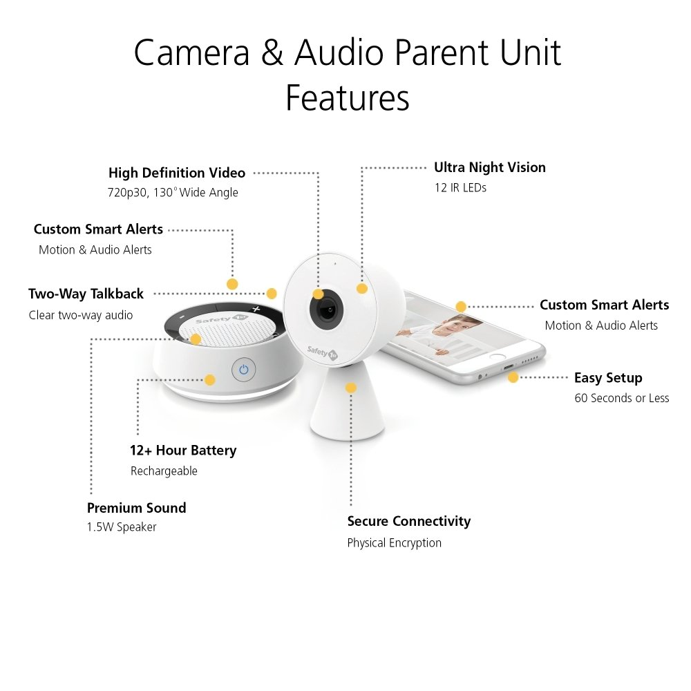 Safety 1st HD Wi-Fi Baby Monitor Camera with Sound- and Movement-Detecting Audio Unit by Safety 1st (Image #15)