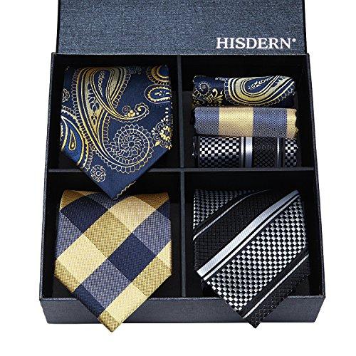 HISDERN Classic Necktie Pocket Square product image