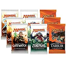 Magic the Gathering - 3x Oath of the Gatewatch, 3x Battle for Zendikar and 3x Dragons of Tarkir - Booster Pack Bundle