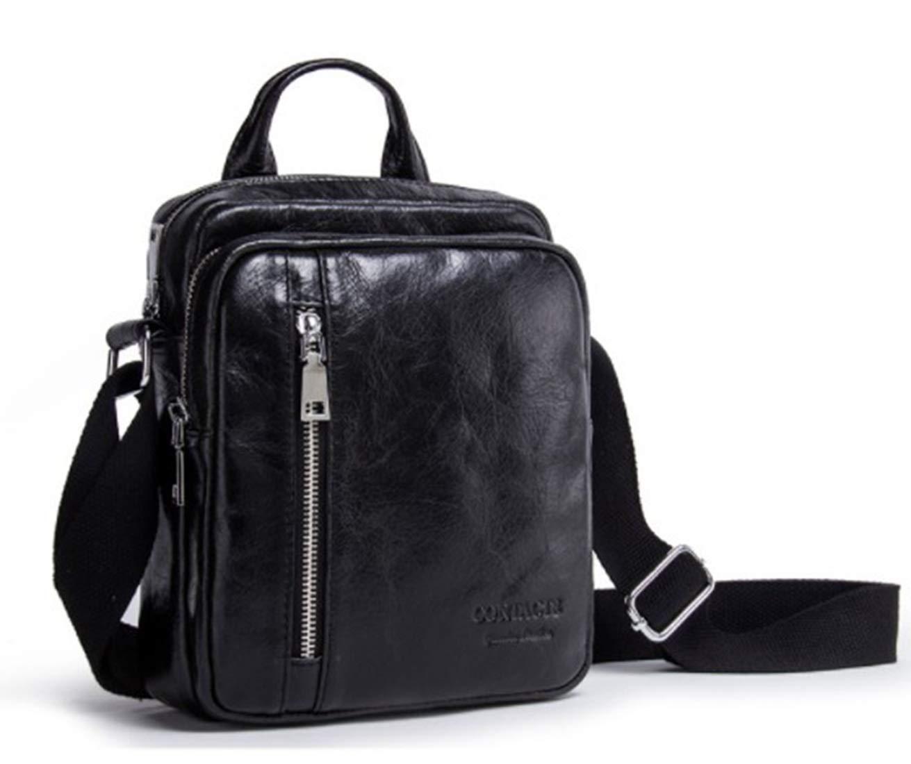 Color : Gray KRPENRIO Mens Messenger Shoulder Bag Vintage Leather Briefcase Crossbody Day Bag for School and Work
