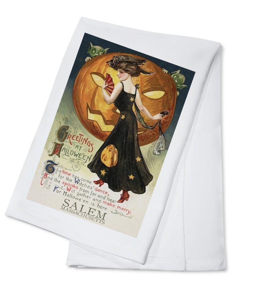 高い品質 Salem、マサチューセッツ州 – ハロウィン魔女ダンス – B01AXHYFRI ヴィンテージはがき Canvas – Tote Bag Cotton LANT-47470-TT B01AXHYFRI Cotton Towel Cotton Towel, おぎはら植物園:11a923f2 --- arianechie.dominiotemporario.com