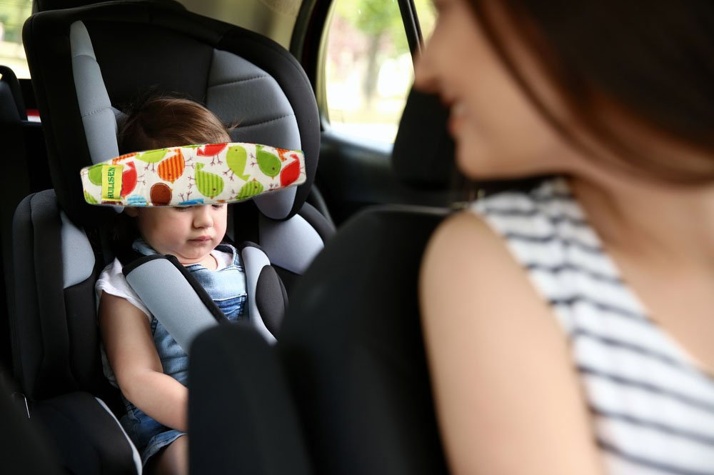 HULISEN 2Pcs Infants And Baby Head Support Band Carseat Straps Covers Slumber Sling