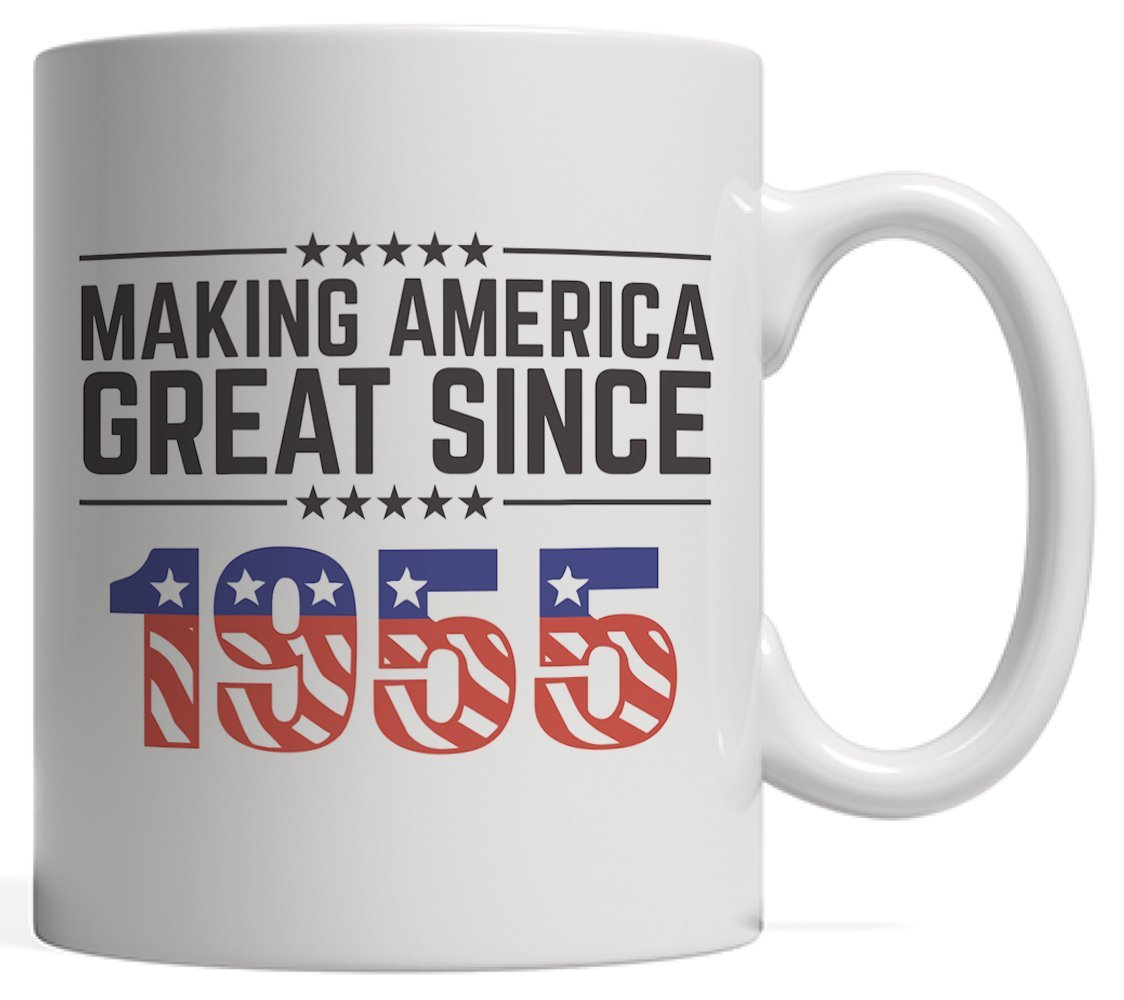 Making America Great Since 1955 Mug - USA Patriotic Anniversary 63rd Birthday Gift Idea For Sixty Three Years Old American Patriot Who Make This Country Greatness Every Year!