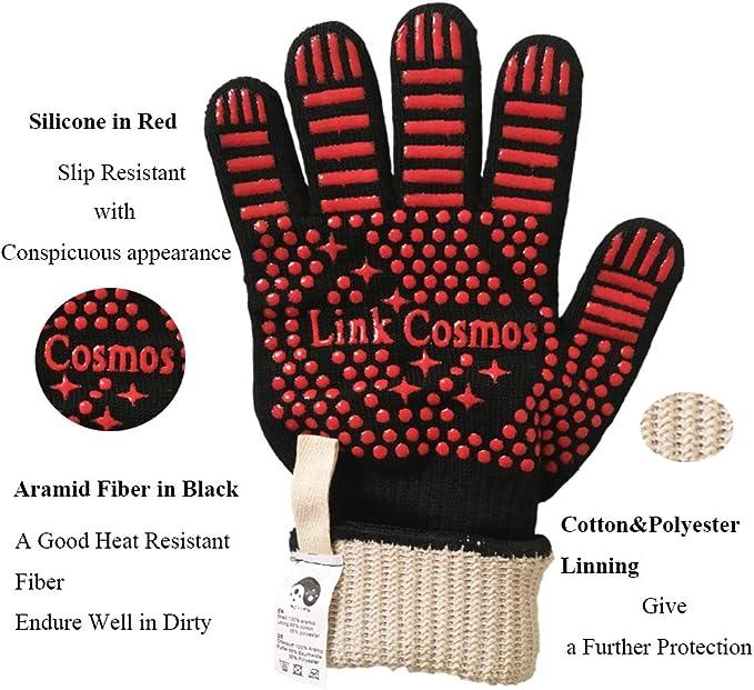 Amazon.com: Link Cosmos - Guantes de barbacoa resistentes al ...