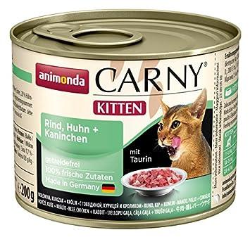 Animonda Comida húmeda para Gatos jóvenes Carny: Amazon.es: Productos para mascotas