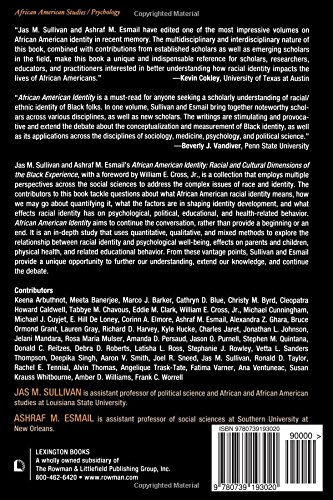African american identity racial and cultural dimensions of the african american identity racial and cultural dimensions of the black experience livros na amazon brasil 9780739193020 fandeluxe Gallery