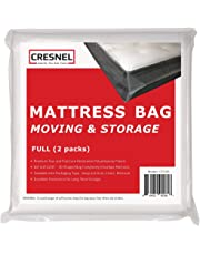 CRESNEL 4-Mil Commercial Heavy Duty/Super Strong Clear Mattress Plastic Bag Cover Sheet Storage (Different Quantity/Size Selections)