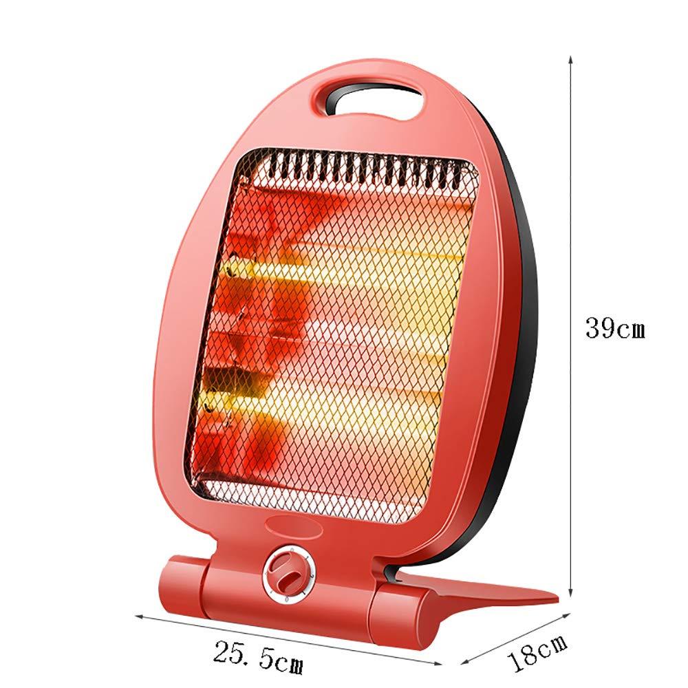 Calentador de cuarzo para el hogar Estufa de parrilla mini Calentador Calentador de radio provincial para ahorro de calor rápido con inclinación de 2 ...