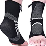 Nordic Lifting Ankle Compression Sleeves (1 Pair) - Support for Injury Recovery & Prevention - 1 Year Warranty (Grey, Large)