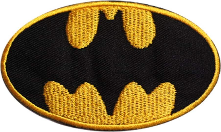 Parche bordado para coser con película de Batman Super Héroe, parche bordado para ropa, camisas, vaqueros, etc
