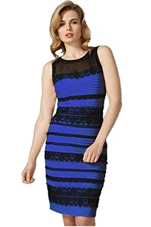 Kleid schwarz blau und gold weib