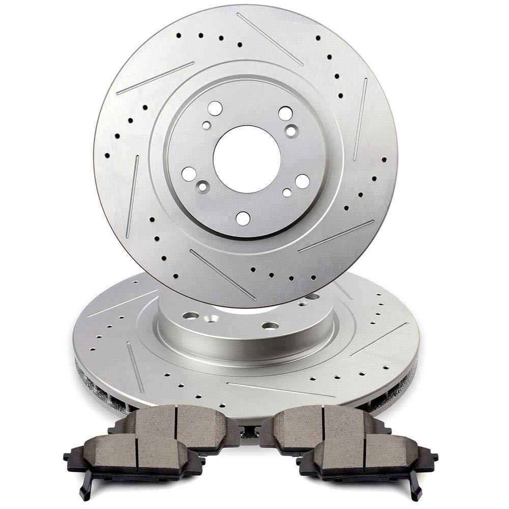 Front Brake Rotors Ceramic Pads For 2002-2006 Acura RSX 2006-2011 Honda Civic