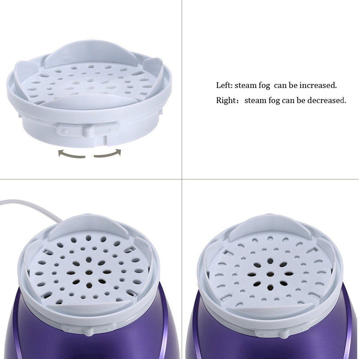 Facial Steamer, szwintec Professional Sinus Steam Inhaler Face Skin Moisturizer Facial Mask Sauna Spa Steamers Sprayer with Aromatherapy Diffuser Humidifier Function by szwintec (Image #4)