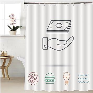 Amazon.com: Gzhihine Shower curtain save money icon hand with cash ...