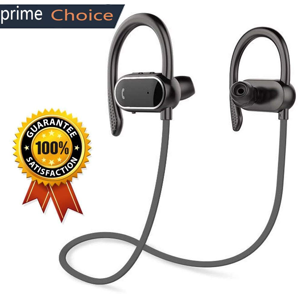 Z ZHOUHAI Bluetooth Headphones Sport Wireless Sweat-Proof Earphones Bass Stereo with Built-in Mic Ear-Buds for Gym Running Cycling Hiking 8 Hours 420