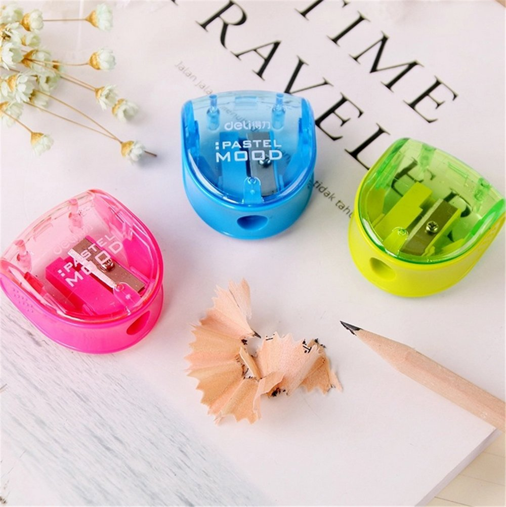 Sungpunet 5Pcs Cute Plastic Pencil Sharpener Stationery Child School Office Supplies Random Color PHX