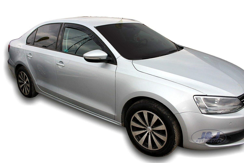 J/&J AUTOMOTIVE Deflecteurs dair d/éflecteurs de Vent Compatible avec Jetta Limousine 2011-pr/és 2 pi/èces