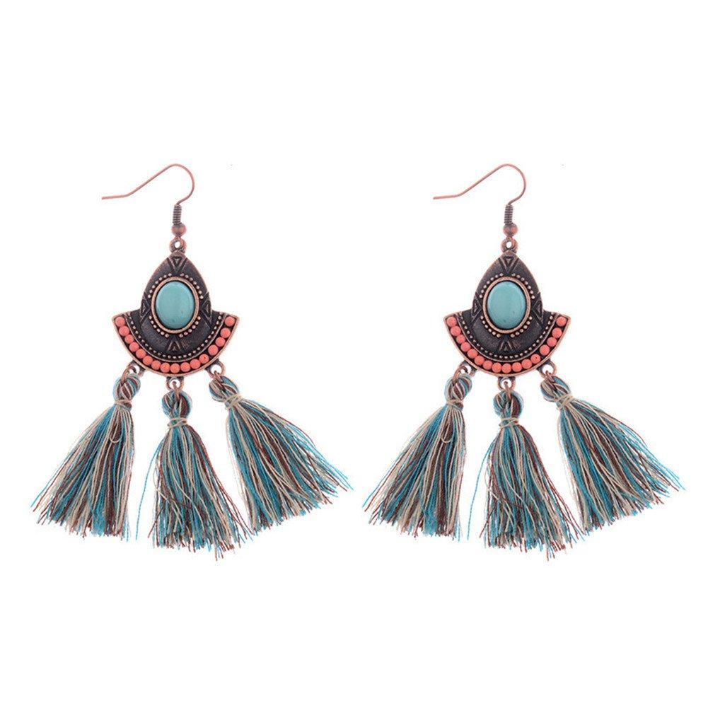 CHUYUN Tassel Dangle Earrings for Women Girls Bohemian Fringe Drop Earring