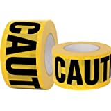 Yellow Caution Tape 2 Pack, 3 inch x 1000 feet, Hazard Tape Black and Yellow, Strongest & Thickest Tape, Weatherproof Resista
