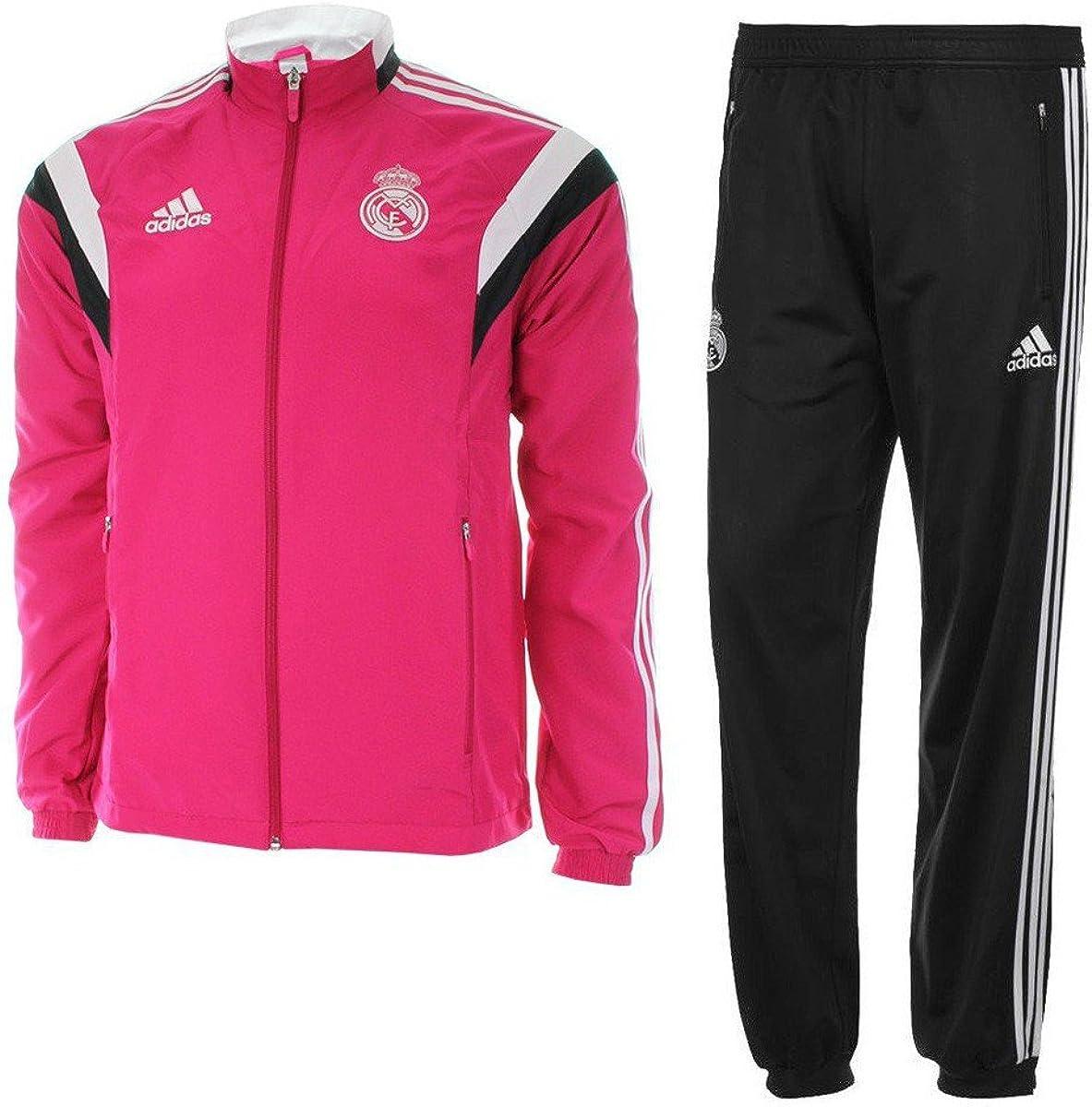 Adidas Chándal Real Madrid Presentación, Hombre, Color Blapnk ...